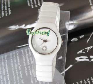 New Lady Girls High Quality White Ceramic Watch 7604LWZ
