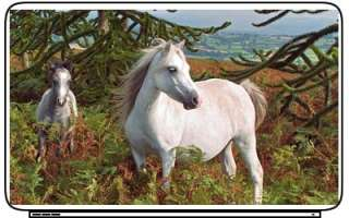 White Horses Laptop Netbook Skin Decal Cover Sticker