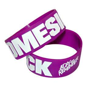 DAY TO REMEMBER Purple Homesick Rubber Bracelet Wristband Wrist Band