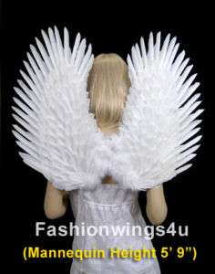Duo Use White Costume feather angel wings pointing up or down Dove