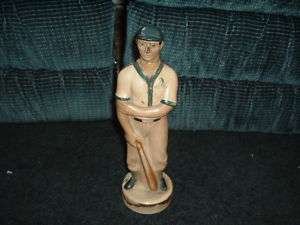 1930s Cuban Whiskey Decanter Baseball player