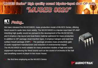 AUDIOTRAK MUSES 8820 OPAMP High quality sound bipolar input dual OP