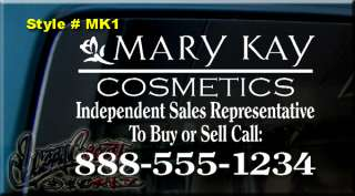 12x9 MARY KAY COSMETICS DECAL STICKER CAR WINDOW SIGN