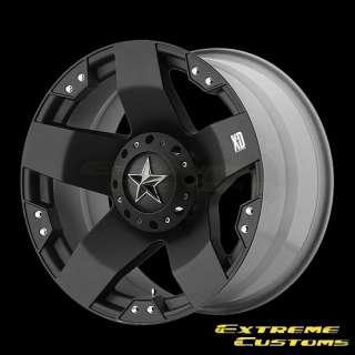 XD775 Rockstar Matte Black 5 6 8 Lug Wheels Rims FREE LUGS