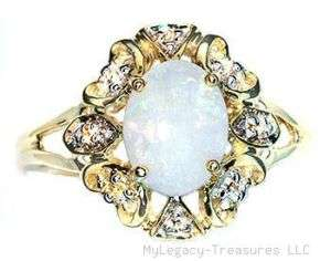 solid opal diamonds hearts gold ring aqua pink purple orange