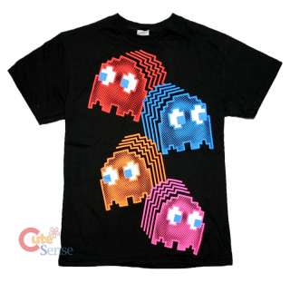 Pac Man Neon Ghosts T Shirt/Game Tee  All Size PACMAN