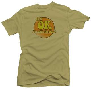 With The Band Funny Retro 80s Grunge Rock T shirt