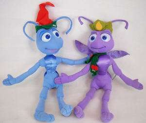 Disney Pixar A bugs Life FLIK & PRINCESS ATTA Christmas Plush Stuffed