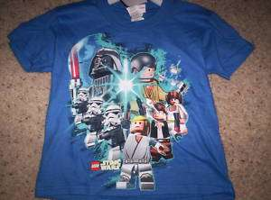 Boys Blue Lego Star Wars Clone Shirt Top Size 4 Small