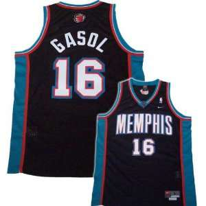 Nike Memphis Grizzlies #16 Pau Gasol Black Swingman Jersey