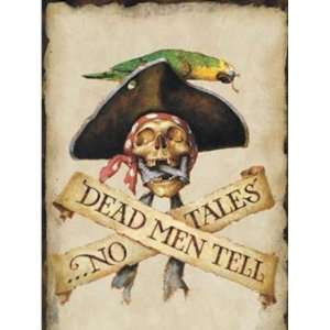 Wallpaper 4Walls Pirates and Skulls Dead Men tell No tales