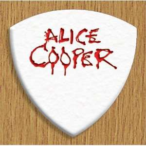 Alice Cooper 5 X Bass Guitar Picks Both Sides Printed