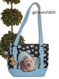 WESTIE PUPPY ~ DOG ~ PAW PRINT QUILTED PURSE BAG