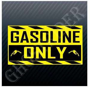 Gasoline Only Gas Fuel Pump Station Sticker Everything Else