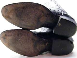 TONY LAMA EL REY BLK FULL OSTRICH QUILL COWBOY WESTERN BOOTS 9.5~1/2 D
