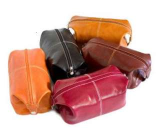 Floto Imports Venezia Leather Travel Toiletry Bag   Available In 5