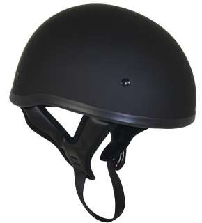 Skull Cap DOT Motorcycle Helmet Flat Black Non Bulk [L]