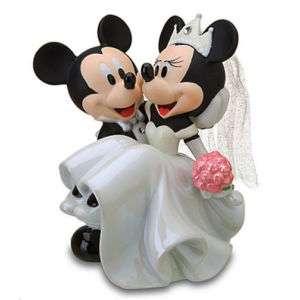 Disney World Mickey & Minnie Wedding Cake Topper Figurine NEW