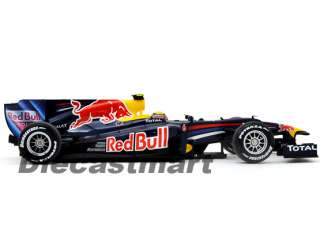 2010 RED BULL RACING RENAULT RB6 M. WEBBER DIECAST NAVY BLUE #6