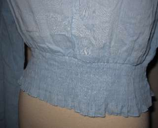 NWT Weathervane Cotton Gauze Peasant Blouse Shirt India