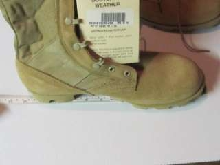 tan desert Cordura and suede leather hot weather combat boots with