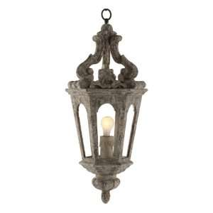 Edna French Country Antique Silver Pendant Lamp