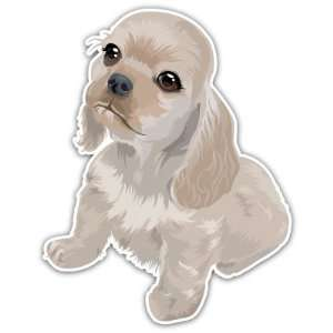 American Spaniel Puppy Dog Car Bumper Sticker Decal 4.5x3