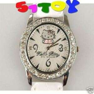 Hello Kitty Wrist rhinestone Quartz leatherette Watch A