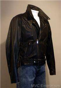 Classic 50s BUCO Style Black LEATHER MOTORCYCLE JACKET ~42R