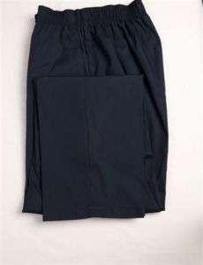 Elastic Waist Pants L LARGE Nursing Scrubs NAVY BLUE