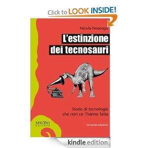estinzione dei tecnosauri (Galápagos) (Italian Edition): Nicola