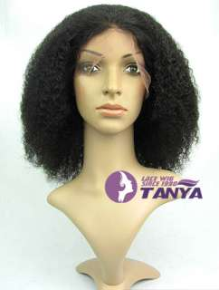 20 Afro Curl Full Lace Wig 100% Indian Remy Human Hair curls top