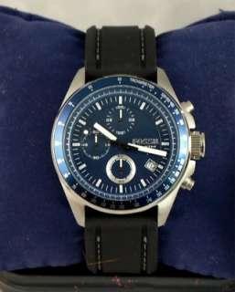 Reloj azul de dial de cronógrafo de decker fósil de hombres . Nuevo