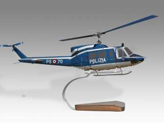 Agusta AB   212AM Italy Police Wood Helicopter Model