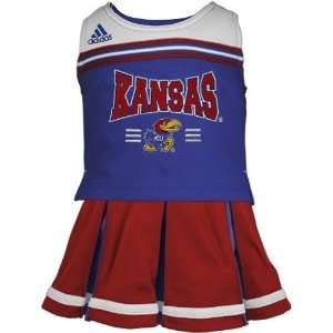 Youth Girls Royal Blue Two Piece Cheerleader Dress