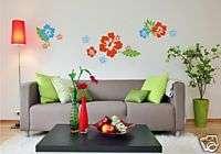 Vinyl Wall Art Decal   Hawaiian Hibiscus Flower Group