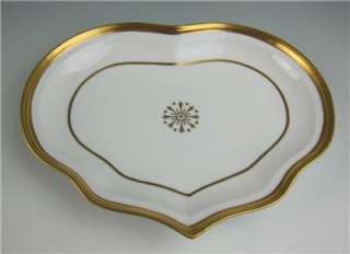 Vista Alegre Porcelain HEART SHAPED TRAY Dish Plate Old Paris Style