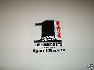 RYAN VILLOPOTO #1 MOTOCROSS STICKER DECAL