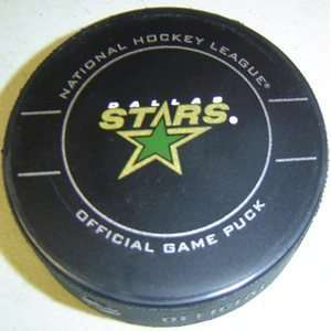 Dallas Stars NHL Hockey Official Game Puck