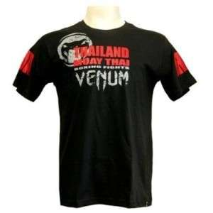 VENUM MUAY THAI RENEGADE MMA UFC SHIRT BLACK SMALL