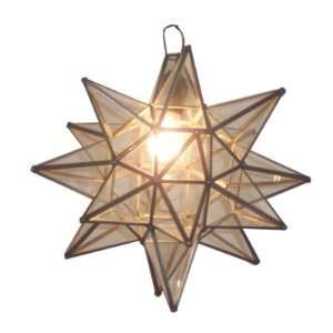 Moravian Star 19 Clear Glass Pendant Lamp Light   Even