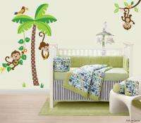 Giant Jungle Monkeys & Palm Tree Lion Zebra Wall Sticker Decals for