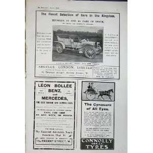 1906 Argylls Motor Car Mercedes Benz Connolly Tyres