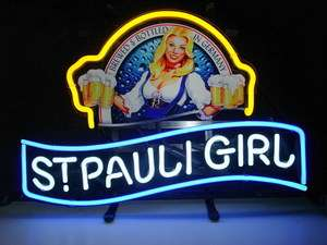 St.Pauli Girl Neon Light Sign Gift Pub Home Bar St Pauli Beer Sign N50