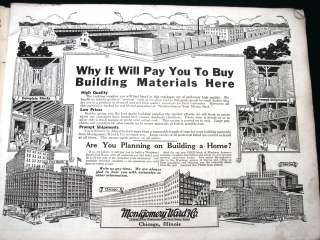 Building Materials orig 1923 Montgomery Ward Construction Catalog