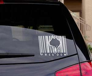 FREEDOM Patriotic Car or Wall Decal Sticker, Top Quality, Made in USA