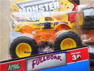2012 HOT WHEELS Monster Jam FULL BOAR FULLBOAR EDGE GLOW New Truck 1