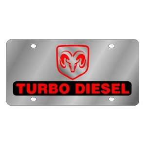 Dodge Ram Turbo Diesel License Plate Automotive