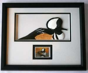 DUCKS UNLIMITED 2000 Duck Stamp & Carved Merganser