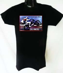 NEW RETRO VINTAGE MOTOR CYCLE BIKE EVEL KNIEVEL COOL T SHIRT SHIRT